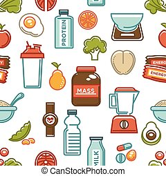 Healthy lifestyle and fitness food nutrition and drinks ...