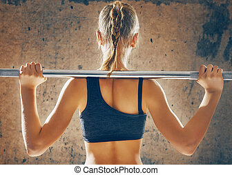 exercise with weight bar
