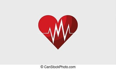 healthy lifestyle concept - heart beat pulse frequency...
