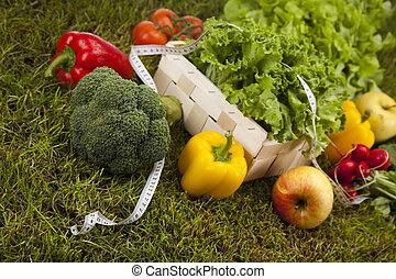Healthy lifestyle concept, vitamin