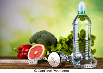 Healthy lifestyle concept, vitamins composition - Healthy ...