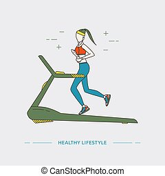 Healthy Lifestyle design concept.