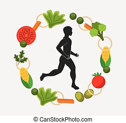 healthy lifestyle design - healthy lifestyle design, vector...