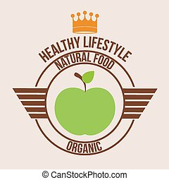 Healthy lifestyle, vector illustration