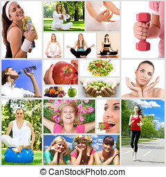 healthy lifestyle - Healthy lifestyle collage.