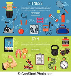 Healthy Lifestyle horizontal banners