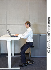 Healthy lifestyle in office work