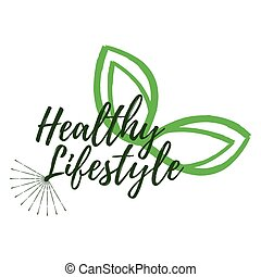 Healthy Lifestyle label. Eco style and Wellness Life badges. Vector illustration icon with Sunburst