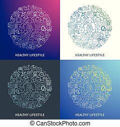 Healthy lifestyle outline concept5