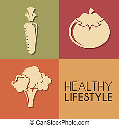 healthy lifestyle over colors background vector illustration