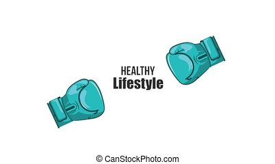 healthy lifestyle related - boxing gloves sport healthy ...