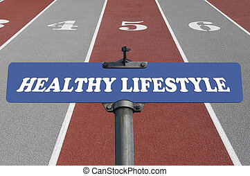 Healthy lifestyle road sign