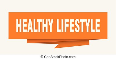 healthy lifestyle sign. healthy lifestyle paper origami...