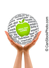 Healthy Lifestyle Sphere - Hands holding a Healhty Lifestyle...
