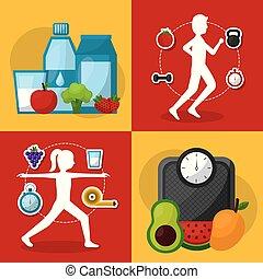 healthy lifestyle sport food
