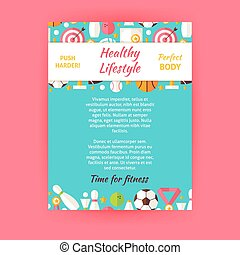 Healthy Lifestyle Sport Invitation
