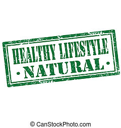 Healthy Lifestyle-stamp - Grunge rubber stamp with text...