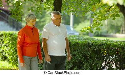 Healthy lifestyle - Elderly friends living healthy lifestyle...