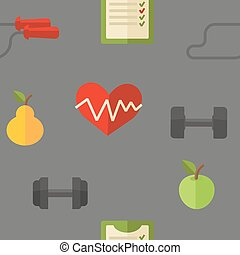 Healthy lifestyle. Vector wellness concept