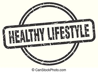 healthy lifestyle vintage stamp. healthy lifestyle sign