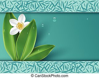 Healthy lifestyle with jasmine flowers background