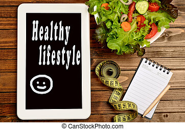 Healthy lifestyle words