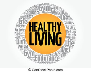 Healthy Living circle stamp