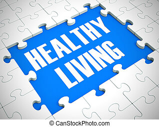 Healthy living concept icon means having a medical check up or physical - 3d illustration
