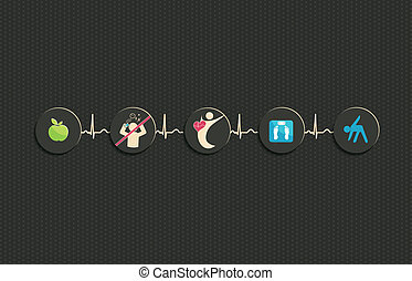 Healthy living concept illustration - Healthy living....