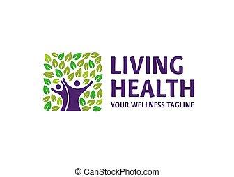 healthy living concept logo vector