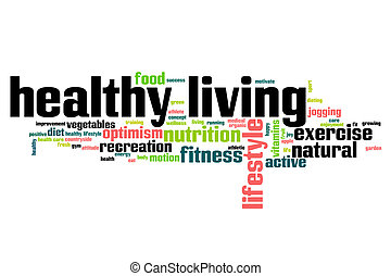 Healthy living word cloud - Healthy living concept word ...