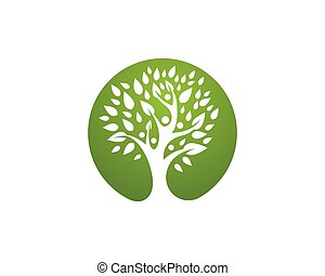 Healthy Logo Template - Tree leaf vector logo design, eco-...