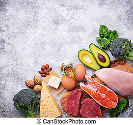 Healthy low carbs products. Ketogenic diet. - Healthy low ...