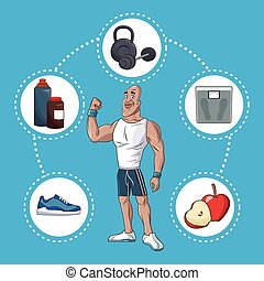 healthy man active sport life