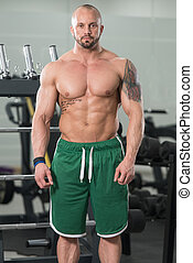 Healthy Man Showing Abdominal Muscle