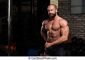 Healthy Man With Six Pack - Handsome Young Man Standing ...