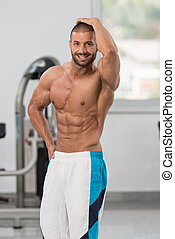Healthy Man With Six Pack - Portrait Of A Young Physically...