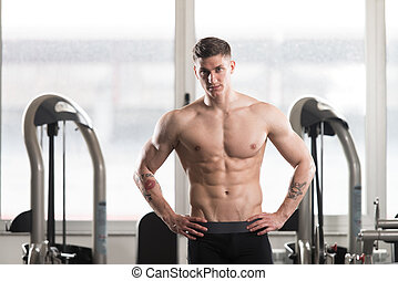 Healthy Man With Six Pack - Portrait Of A Young Physically ...
