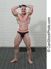 Healthy Man With Six Pack - Strong Athletic Man Fitness...