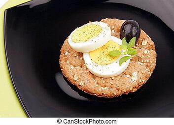 fiber egg black olive