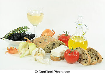 Healthy Mediterranean lunch. - Sliced Loaf Mediterranean...
