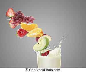 Healthy refreshment sweet and milkshake