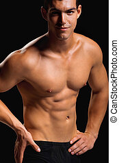 Healthy muscular young man