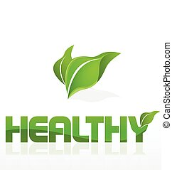 Healthy nature leafs logo
