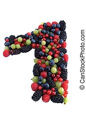 Healthy number 1 - Number one made of several kinds of...