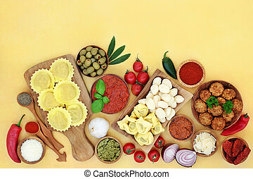 Healthy Nutrition Italian Food Ingredients