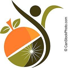 Healthy Nutrition Logo Design Template Vector