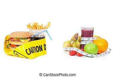 Healthy or unhealthy food - Lifestyle choice between junk...