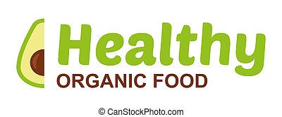 Healthy organic food logo