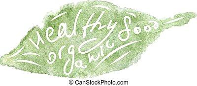 healthy organic icon.